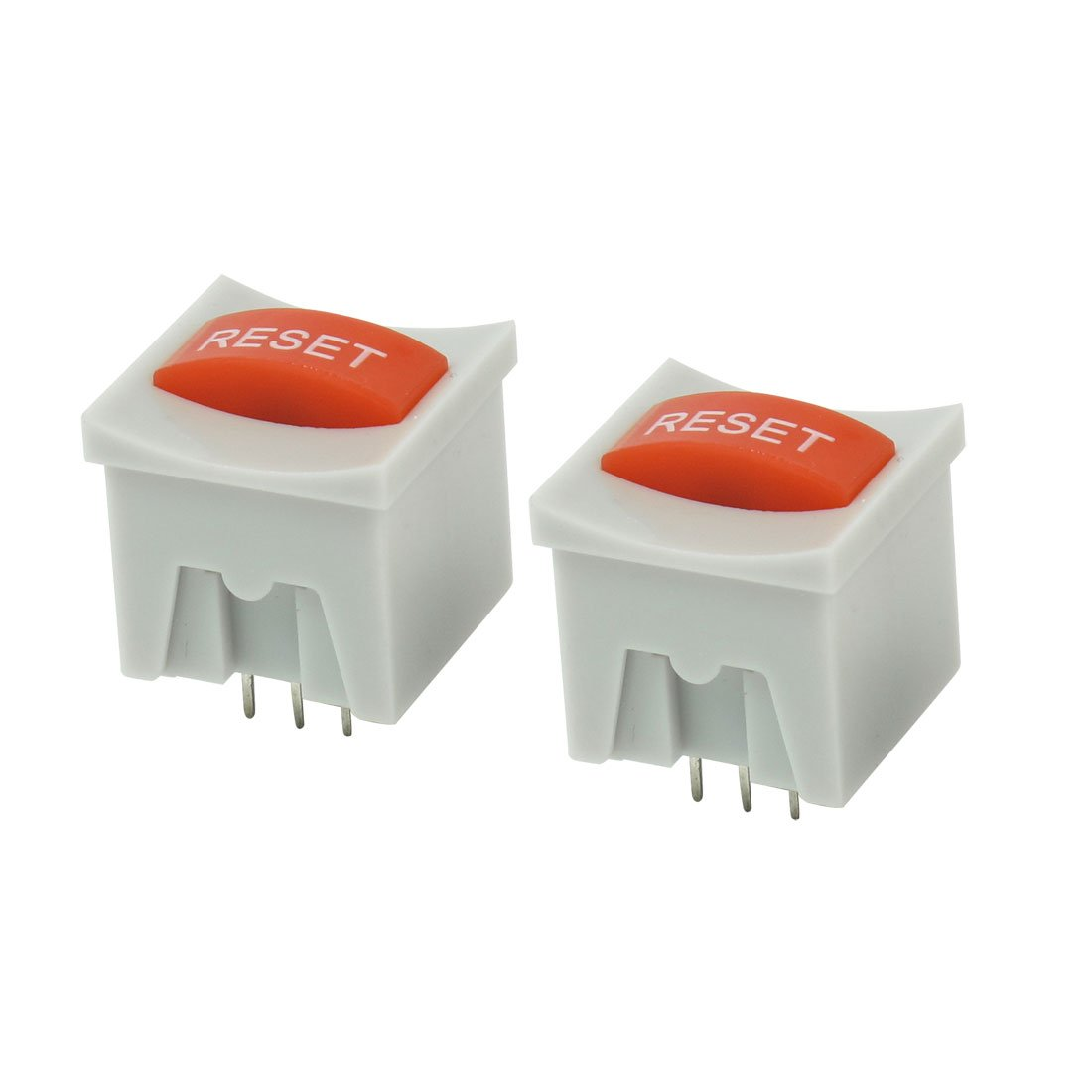 Uxcell AC 250V 5 Amp RESET Word Pattern Momentary Push Button Switch 2 Piece