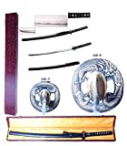 """Best Sword Set With Golds - New 41.5"""" Japanese Fighting Samurai Warrior War Lord Review"""