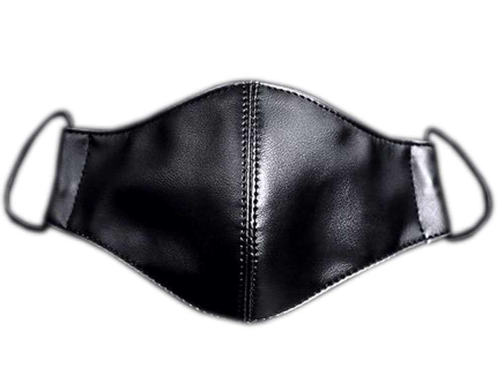 Hot Sale Fashionable Black Leather Sanitary Mask, The Fashionasta Collection