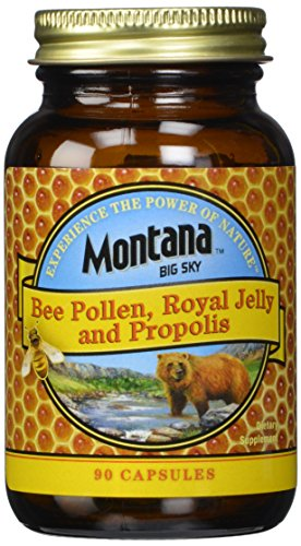 Montana Big Sky, Bee Pollen Royal Jelly and Propolis Capsules, 90 count (Pack of 12) by Montana Big Sky