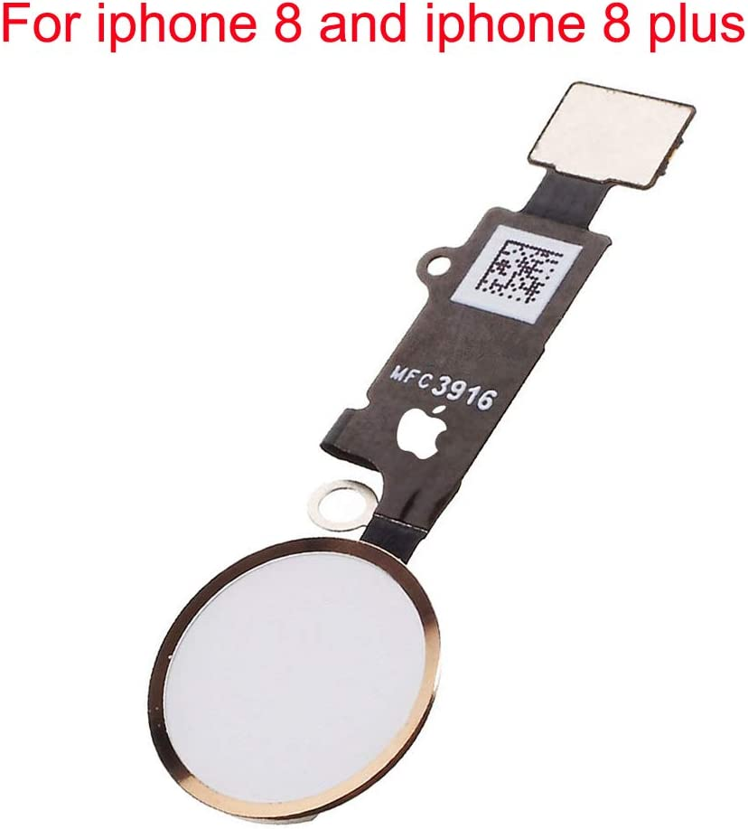 Afeax Compatible with Home Button Flex Cable Replacement for iPhone 8 and 8 Plus (Gold)