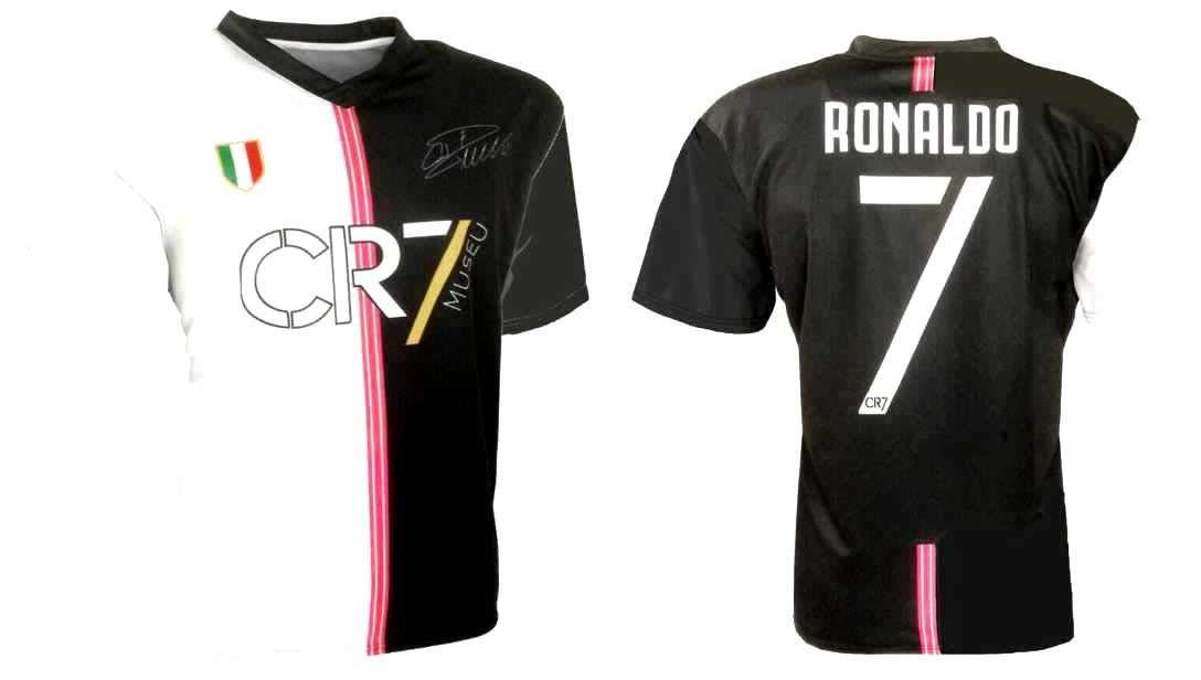 CR7 MUSEU Maglia Ronaldo 7 Ufficiale 2019-20 Bambino Uomo Adulto T-Shirt Marchio di Cristiano Ronaldo