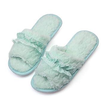 FANQIANNAN Zapatillas Zapatos Mujer Encaje Corbata De Lazo Punta Abierta Zapatos Antideslizantes Cómodo Suave Inferior para Zapatillas: Amazon.es: Deportes ...
