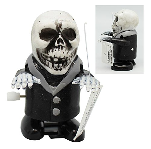 Mini Skeleton Bendable Arms Windup Walking Toy - By Ganz