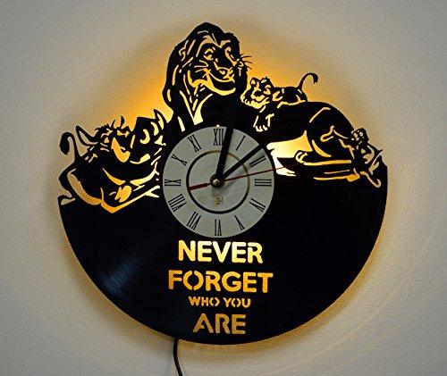 Cheap LED Light, Night Light, Wall Lamp, Wall Lights, Lion King Wall Clock, Cool Nursery Wall Art Decor