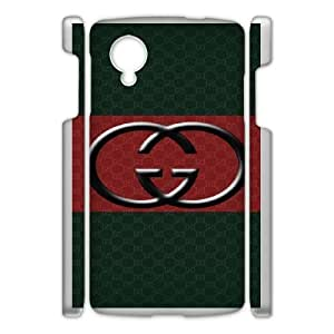 Personalized Durable Cases Google Nexus 5 Cell Phone Case White Gucci Brand Gbcan Protection Cover