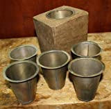 JumpingLight 4 Replacement Sugar Mold Candle Holder Primitive TIN Cup Votive Candles Cast Iron Decor for Vintage Industrial Home Accessory Decorative Gift
