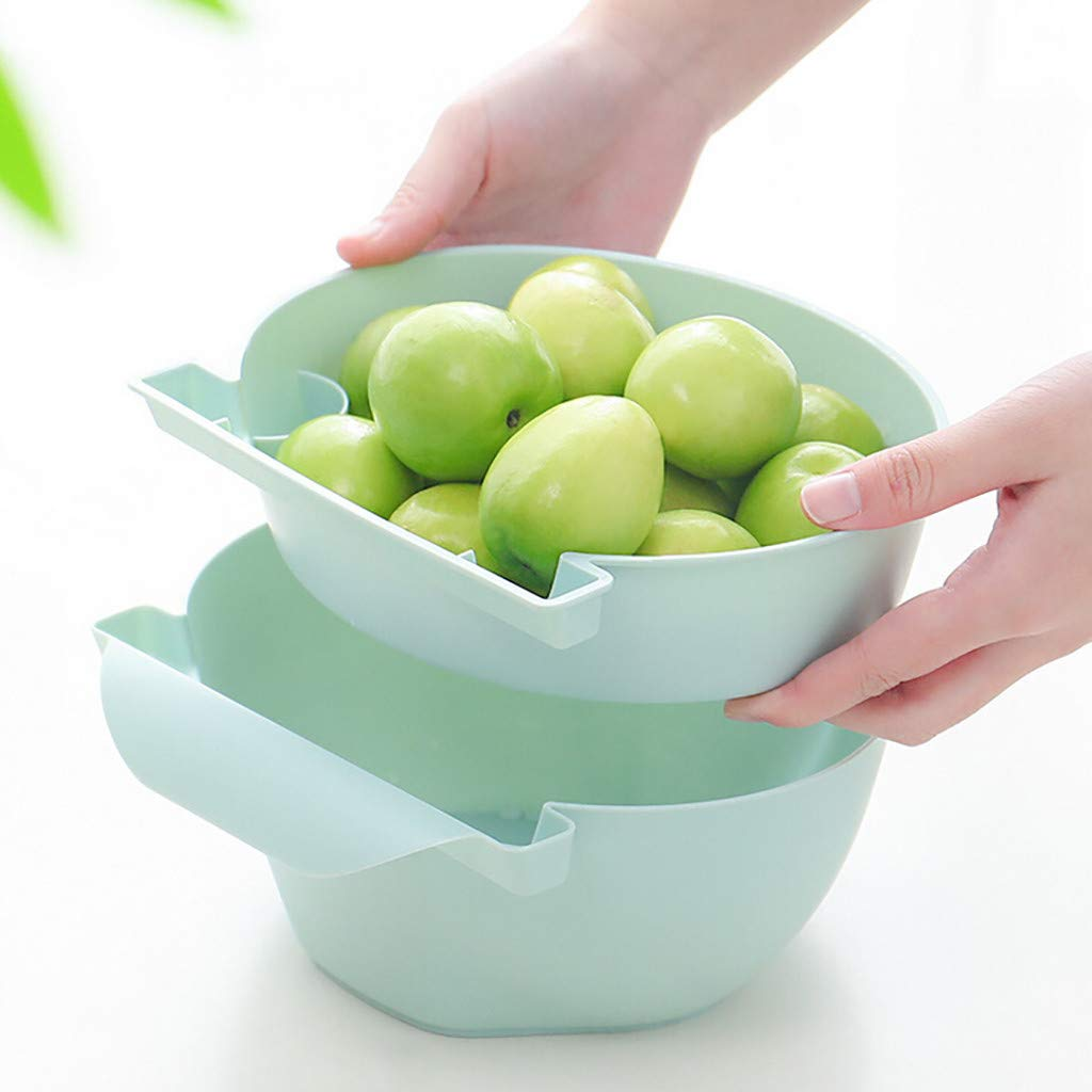 Onegirl Dry Fruits Food Storage Box,Drawer Lazy Dry Fruit Box Mobile Phone Holder Snacks Rubbish Food Storage Box,17x17.2x9cm, Non-toxic,Smell-less,Base Thicker (Green) by Onegirl tools (Image #4)