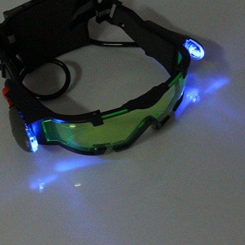 Gafas de Visi/ón Nocturna con Azul Flip-fuera Llevaron Luces