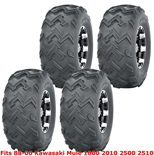 Full Set WANDA ATV Tires 22x11-10 for 1988-2000 Kawasaki Mule 1000 2010 2500 2510 4PR (Trailer Kawasaki Mule)