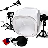30'' Photo Light Tent Cube Soft Box w/ 4 Chroma Key Backdrops LED 5400K