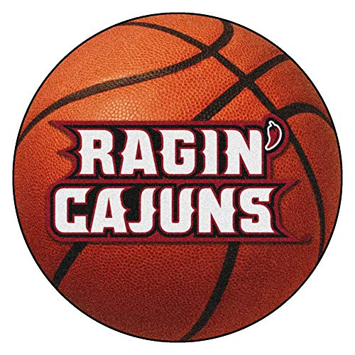 Louisiana Lafayette Basketball - FANMATS NCAA Louisiana-Lafayette Ragin' Cajuns Nylon Face Basketball Rug