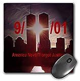 3dRose Sandy Mertens Patriotic - Remember 9 11 - MousePad (mp_21648_1)