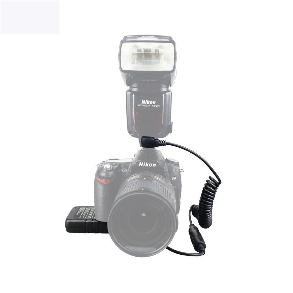 eFonto//JJC Un solo cable compatible con Nikon SD-9 Speedlite