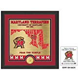 The Highland Mint NCAA Maryland Terrapins State Bronze Coin Photo Mint, 18'' x 14'' x 3'', Bronze