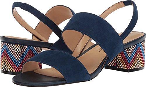 Katy Perry Women's The Annalie Heeled Sandal, Navy, 9.5 Medium US