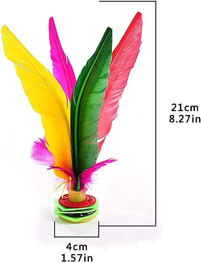 3pcs Funny Kick Feather Shuttlecocks Foot Sports Toy Playing Games Student Kicki