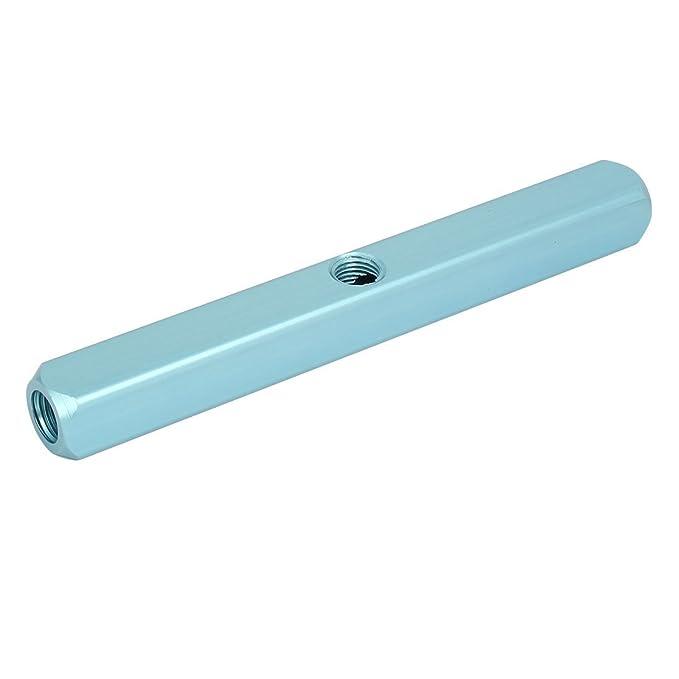 eDealMax 1/4 PT Tema 9 Puertos 6 Manguera de aire de manera Inline colector del divisor de bloque azul - - Amazon.com