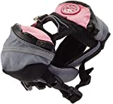 Doggles Dog Extreme Backpack, Gray/Pink, XX-Small