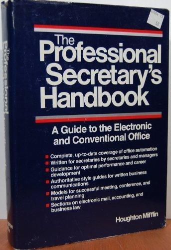 Professional Secretary's Handbook by Houghton Mifflin Harcourt