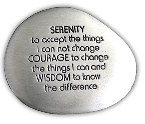 Cathedral Art SS126 Serenity Prayer Soothing Stone, 1-1/2-Inch ()