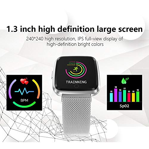 IrahdBowen Smart Watch Tensiómetro de HD de Pantalla en Color - Rastreador de Fitness con pulsómetro Bluetooth Smart Watch Reloj Deportivo: Amazon.es: ...