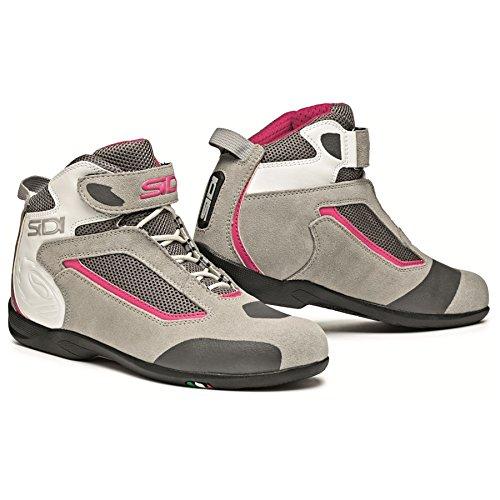 Sidi Gas Lei Ladies Motorcycle Shoe Grey/Pink US10.5/EU43 (More Size Options)