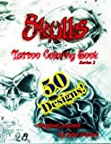 Skulls Tattoo Coloring Book