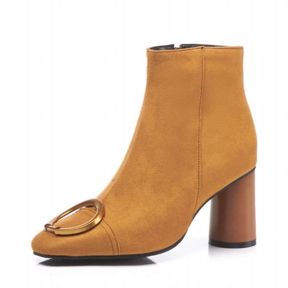 Stiefel Stiefel Stiefel Für Damen - Warme Stiefel Spitze Stiefeletten Für Damen Hochhackige Rutschfeste Martin-Stiefel   32-43 Yards 98545a