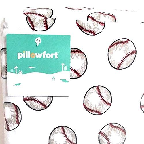 Pillowfort Baseball Twin Sheet Set