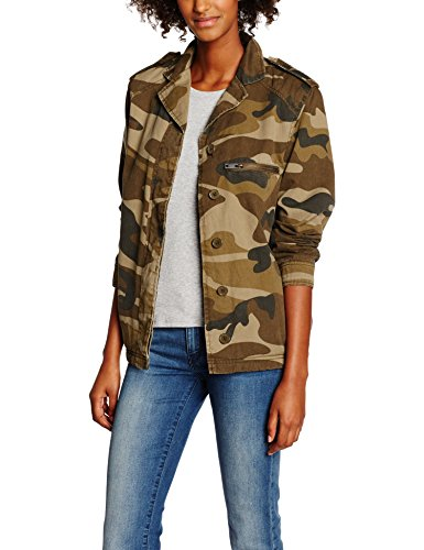 Mujer Chaqueta para New Look Camo Borg Verde TwqwgXt8M