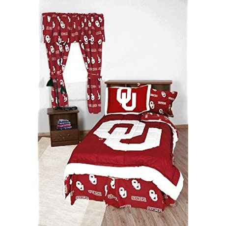 NCAA Oklahoma Sooners Collegiate 7pc Red Full Bedding Set