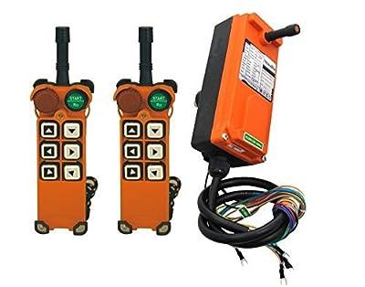 Industrial Wireless Remote Control F21-E1 AC/DC18V-65V (2 Transmitters + 1 Receiver) Hoist Crane