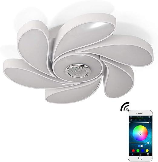 YEEZET LED Lámparas 72W de Techo Lámparas Música Bluetooth Altavoz ...