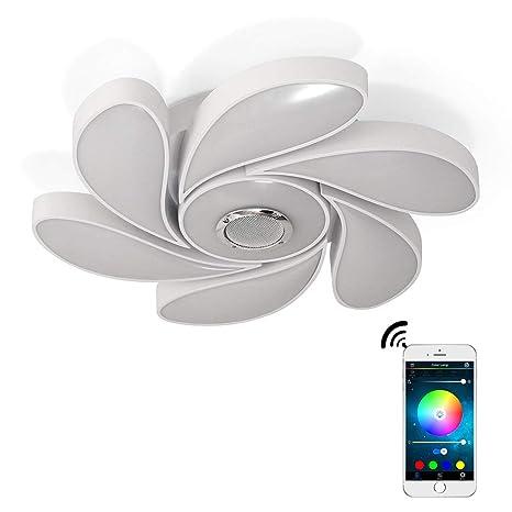 72W LED Lámparas De Techo Música Bluetooth Altavoz Con Smartphone App Control, Cambio De Color RGB, Montaje Rasante Para Sala De Estar, Dormitorio, ...