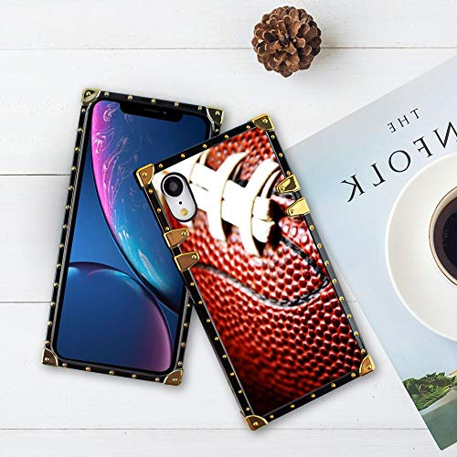 Phone case Fit for iPhone Xr Luxury Cool Girls Ball of American Football Bumper Shockproof Protective Cover