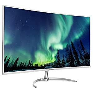 Philips BDM4037UW 40-Inch Curved 4K LED Monitor, 3840 x 2160, 4ms, 20M:1 DCR, VGA,(2) DP,(2) HDMI,(4) USB, Spkrs