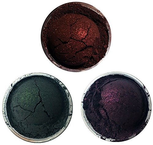 Shiro Cosmetics Eye Shadow Indie Makeup Trio - A Shadow Among Shadows, Beatification to the Witch, Very Bad News (2.0 grams -