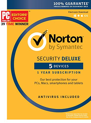 Norton Security Deluxe - 5 Device [Key (Windows Computer Protection)