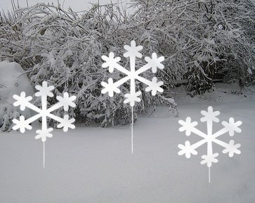 Snowflake Yard Stakes (Set of 3) by Rustica Ornamentals