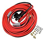 Energizer 1-Gauge 800A Permanent Installation kit Jumper Battery Cables Quick Connect Plug 30 Ft Booster Jump Start ENB-130-30 Allows You to Boost a Battery from Behind a Vehicle!