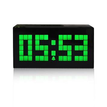 Merveilleux Nouveau Mode Trois Dimension 16,5cm Digitale Réveil LED Horloge Murale à  Vert LED Clock