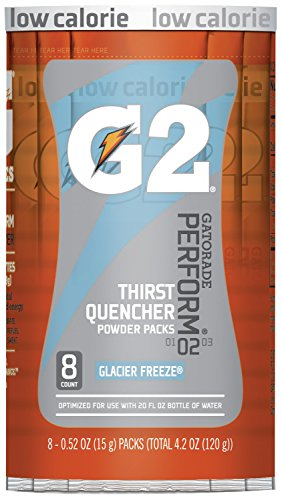 - Gatorade G2 Powder Packets, Glacier Freeze, 0.52 oz., Packet (Pack of 8)