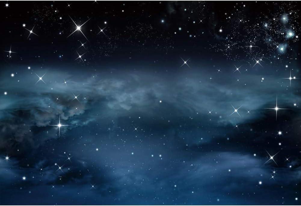 Yeele Galaxy Backdrop Nebula Twinkle Stars Night Sky Universe Photography Background 10x6.5ft Sci-fi Events Decor Artistic Portrait YouTube Channel Photoshoot Props