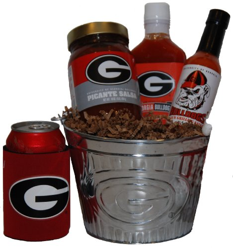 College Picante Salsa - University of Georgia Tailgate Grilling Gift Basket - Small