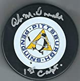 Autographed Ab McDonald Pittsburgh Penguins Hockey Puck