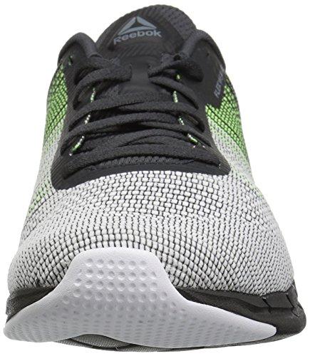 Coal M US Alloy Flash Electric Reebok 10 Men's Flexweave Running Shoe White Fast 84aqHZf