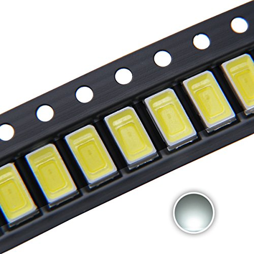 Chanzon 100 pcs 5730 (5630) White 6000K SMD LED Diode Lights Chip (5.7mm x 3.0mm DC 3V 150mA 0.5W 50-55LM) High Intensity Super Bright Lighting Bulb Lamps Electronics Components Light Emitting Diodes (Smd Chip)