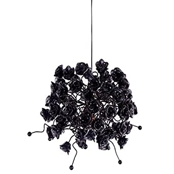 Nura Lights Black Rosettes Pendant Hanging Light
