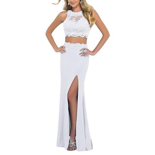 2 Piece Formal Dress White: Amazon.com
